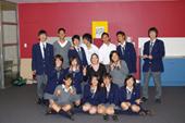 英語の先生と記念撮影